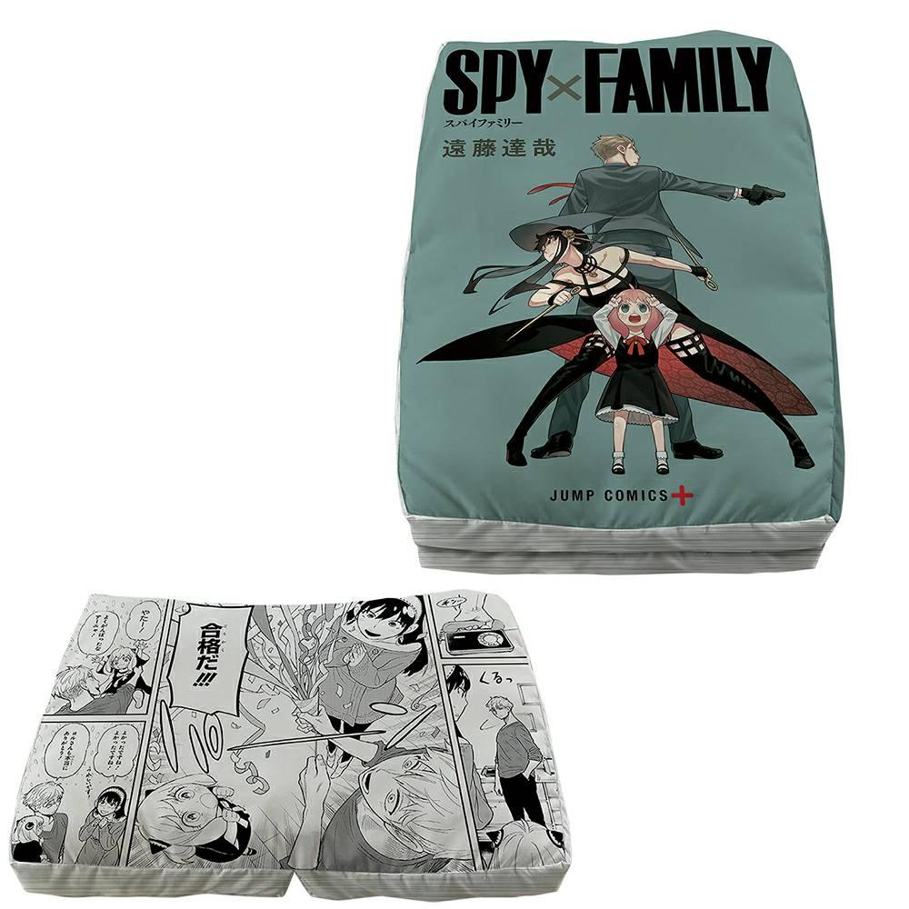 スパイファミリー 一番くじ ラストワン賞:コミックス型クッション